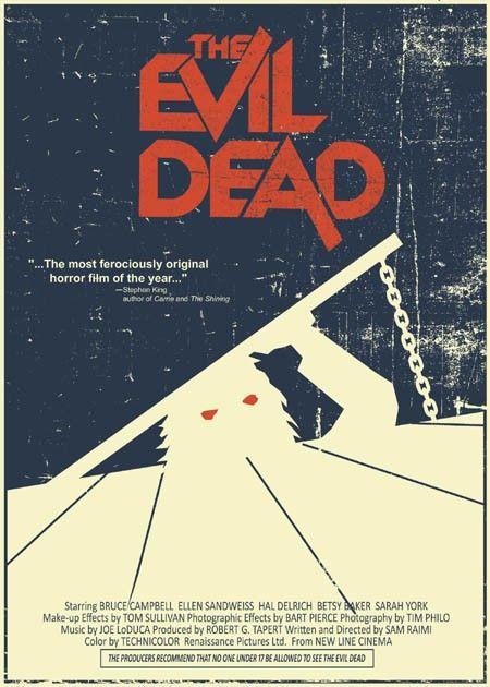 """The Evil Dead"" vintage style 5X7 print. http://www.etsy.com/listing/63847156/the-evil-dead-vintage-style-5x7-print"