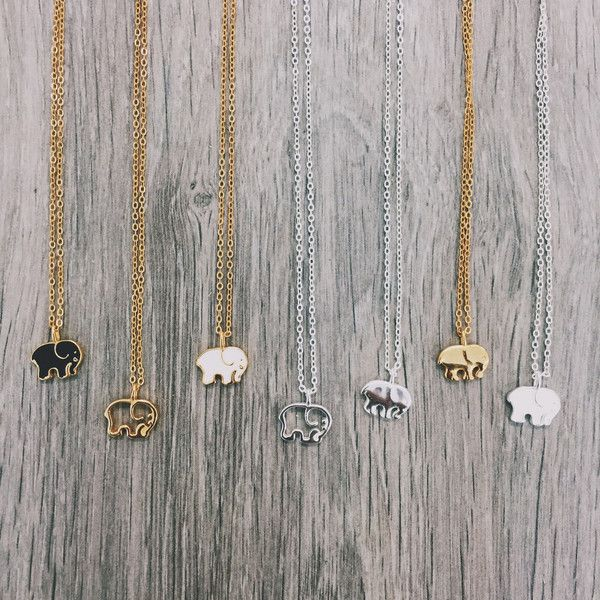 """Gold Plated Sterling Silver Ella Outline Pendant 13-16"""" Adjustable Gold Plated Sterling Silver Chain *Portion of each sale goes directly to savetheelephants.org"""