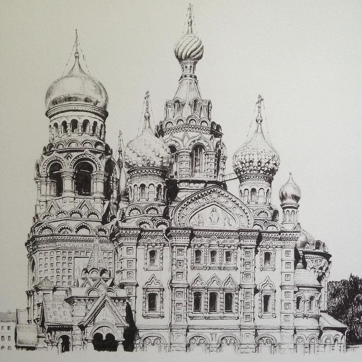 I can't believe I did this drawing two years ago! #art #drawing #pen #sketch #illustration #linedrawing #russia #architecture #stpetersburg #building #church