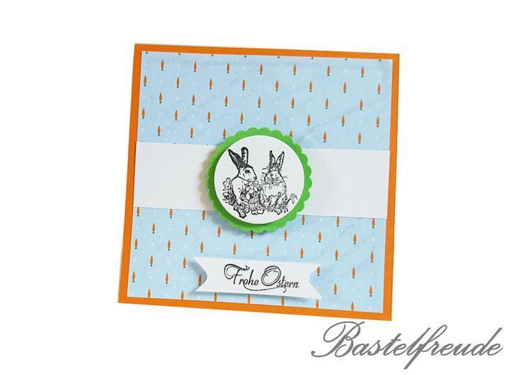 Easter Card - Osterkarte - Osterhase- Klappkarte - Blau