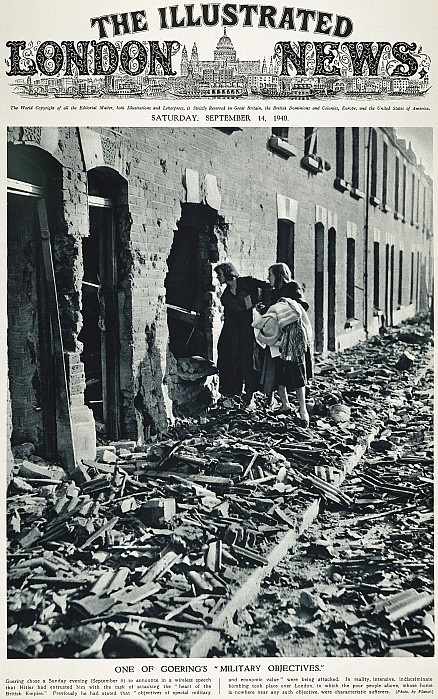 WORLD WAR II: BLITZ, 1940. The aftermath of a German blitz on London, 7-8 September 1940, near the height of the Battle of Britain.