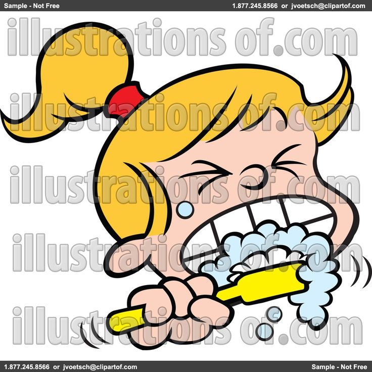 Brushing Teeth Clipart