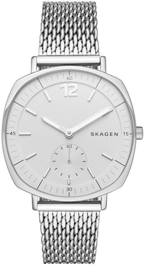 Skagen Women's Chronograph Rungsted Stainless Steel Mesh Bracelet Watch 34x39mm SKW2402