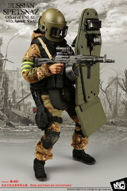 MC Toys 1/6th scale Russian Spetsnaz Officer of FSB Alfa with Assault Shield looks really COOL