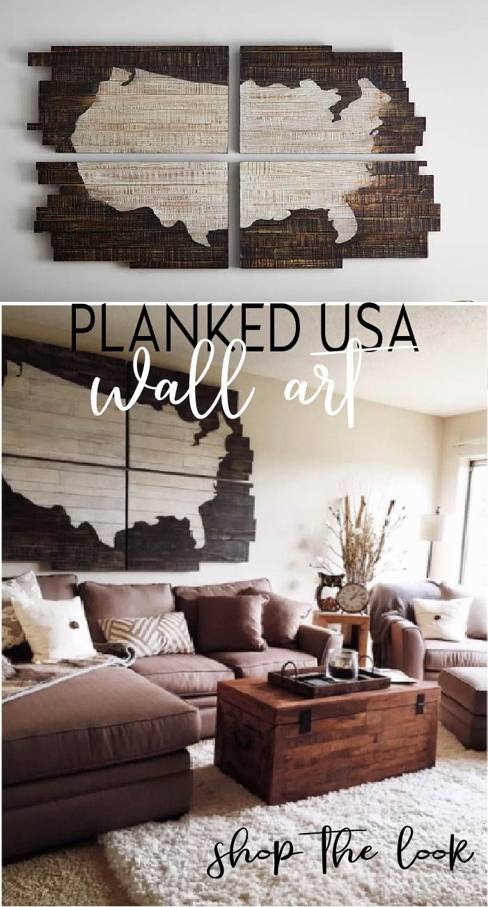 Love This Rustic Usa Planked Usa Wall Art Shop The Look Here At Pottery Barn Affiliatelink Panel Wall Art Wall Plank