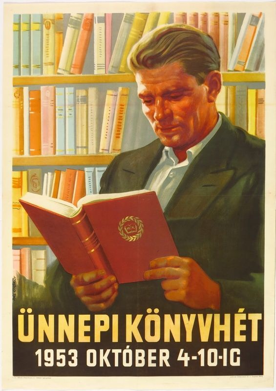 Pál György (graf.) - Ünnepi könyvhét 1953 október 4-10-ig - Múzeum Antikvárium