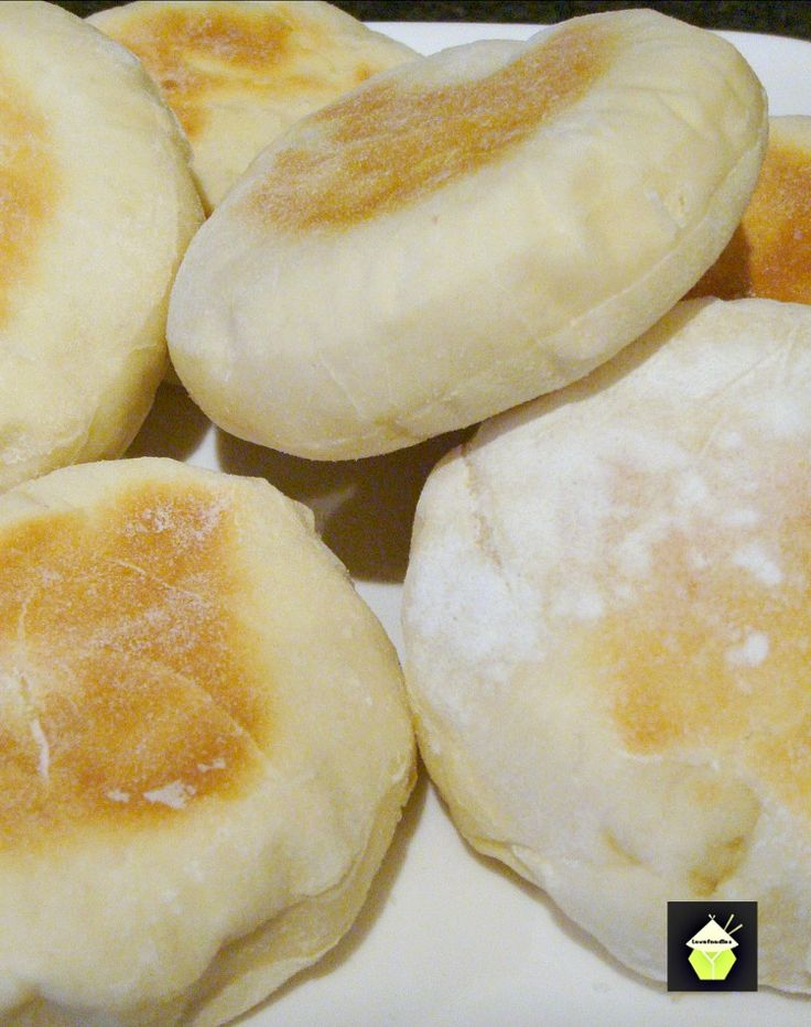 English Muffins - Perfect served warm with some butter! You can eat these delights sweet or savoury, the choice is yours! (I like strawberry jam on mine!) Make up a batch and freeze so they're always handy!