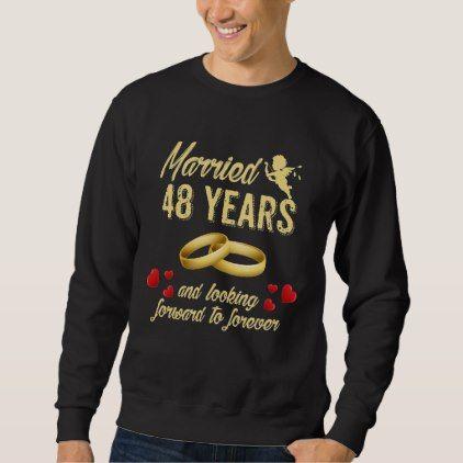 Husband Wife Gift. 48th Anniversary T-Shirt Ideas.  $38.00  by AnniversaryAndAge  - custom gift idea