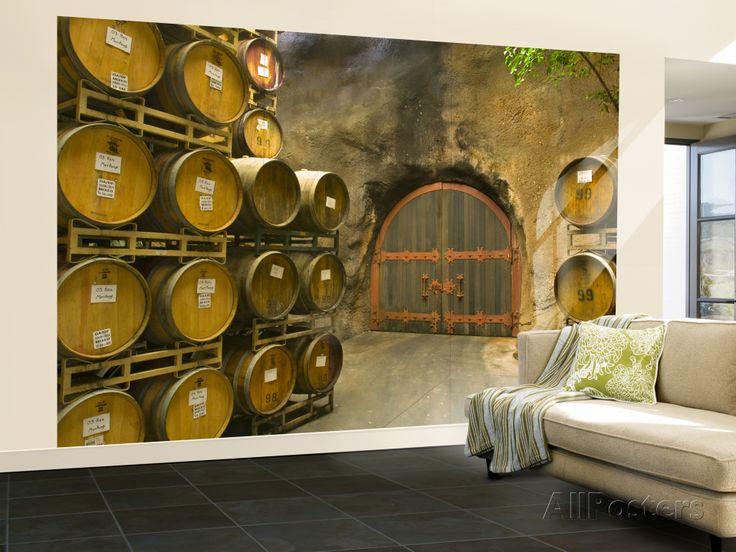 Oak Barrels Stacked Outside of Door at Ironstone Winery, Calaveras County, California, USA Wall Mural – Large at AllPosters.com
