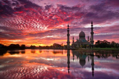 """Evening Prayers"", Masjid Pandan Huala Belait, Brunei Darrussalam.: Prayer, Dean O'Gorman, Beautiful Sky, Sunri Sunsets, Kuala Belait, Sunsets Photography, Mullins Sunsets, Brunei Sunsets, Dean Mullins"