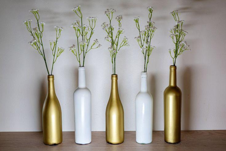 Gjør-Det-Selv: Vinflasker som borddekorasjon