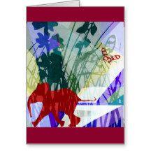 Naughty elephant vertical card tarjeta de felicitación   Zazzle