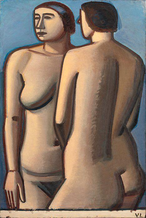 Vilhelm Lundstrøm (1893-1950), To Stående Modeller, 1927