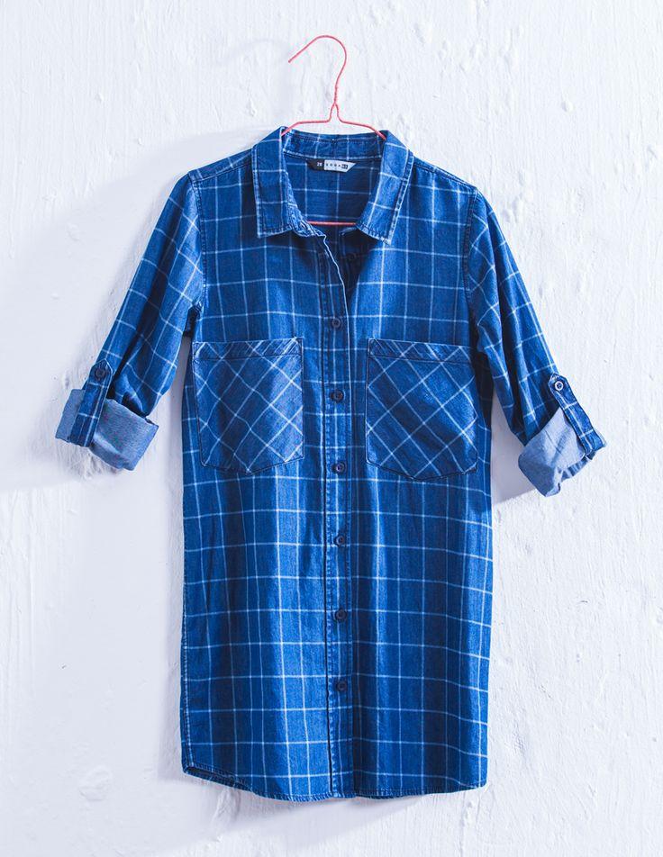Denim shirt dress for Girls