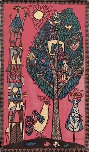 STIG Lindberg Printed Textil 1950 | eBay