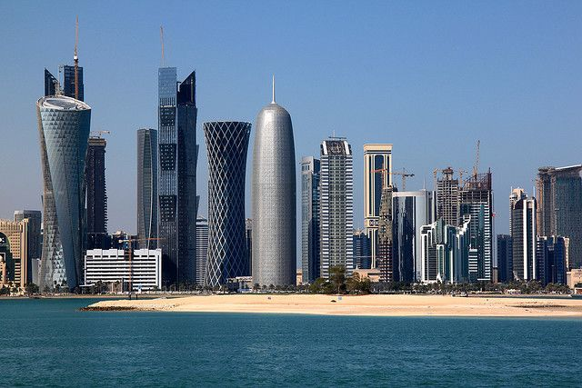 Doha, Qatar with Jean Nouvel's Burj Tower in the centre