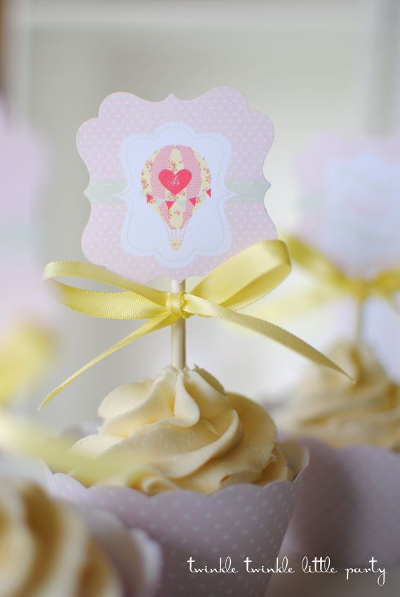 Shabby Chic Hot Air Balloon Baby Shower by twinklelittleparty