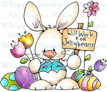 Jellybean Bunny - Easter - Holidays - Rubber Stamps - Shop
