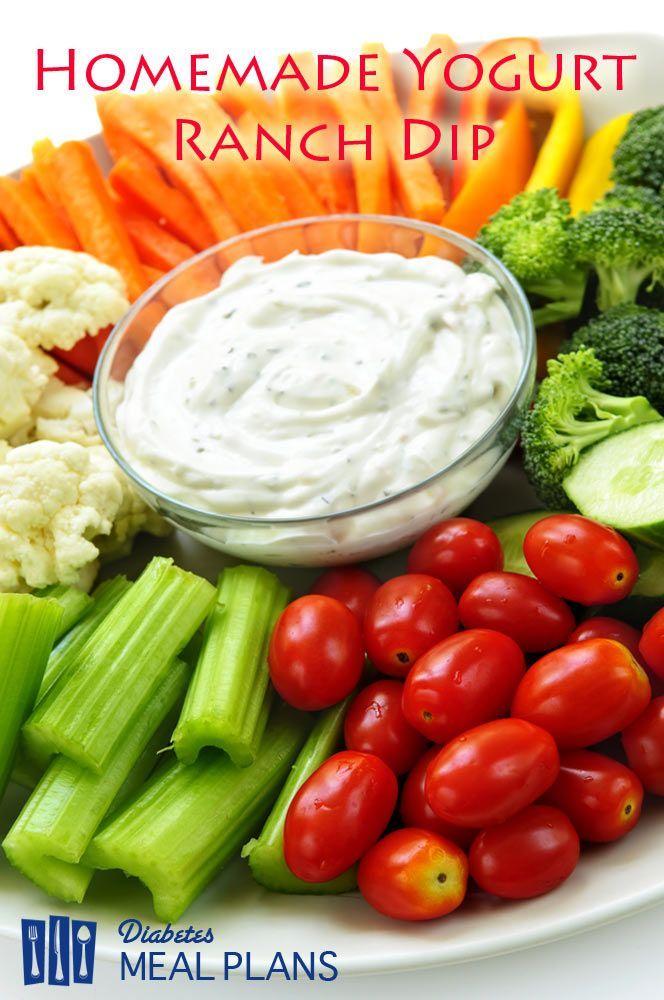 Diabetic Snack Recipe: Homemade yogurt-based ranch dip