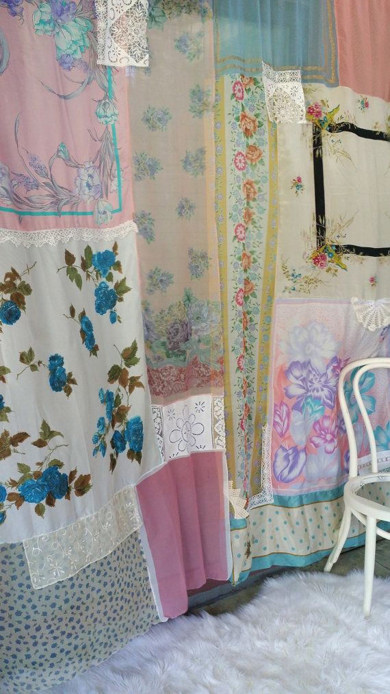 Shabby Chic Boho Curtains Drapes panels Hippie Hippy by HippieWild