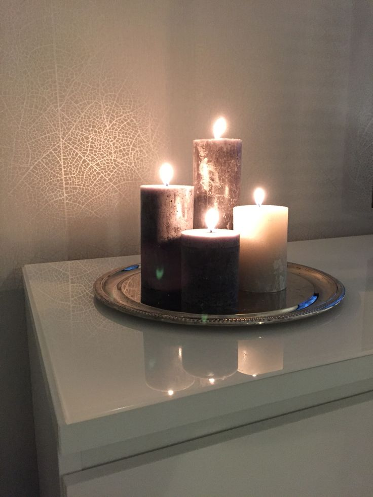Grey candles