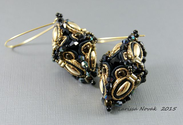 Soutache Earrings in 3D Optic | Flickr - Photo Sharing!