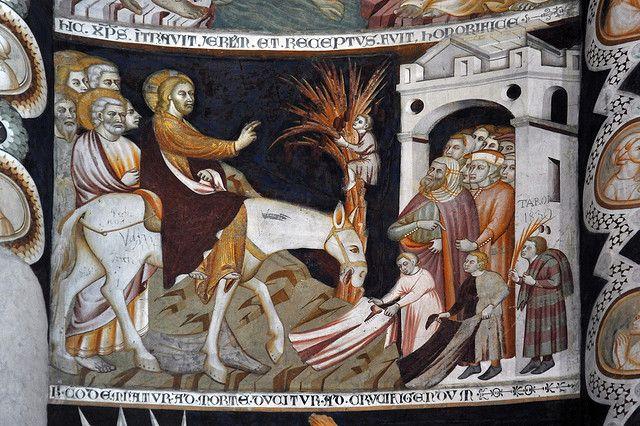 Frescoes of the basilica of Sant'Abbondio, Como, Italy