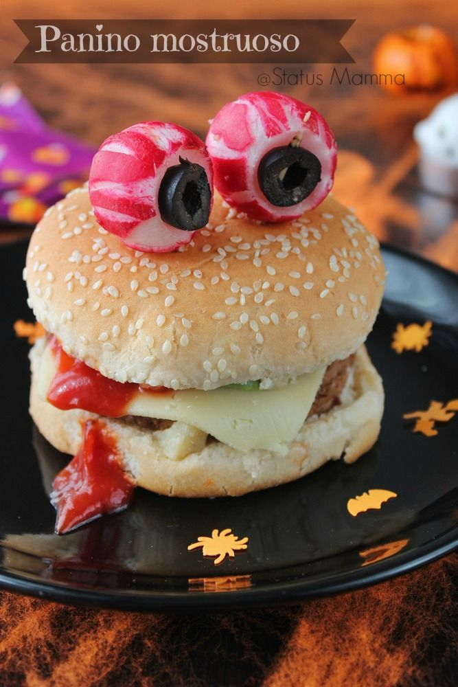 Panino mostruoso di Halloween