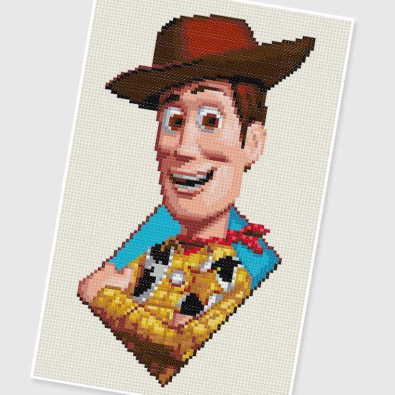 PDF Cross Stitch pattern : 0007.Woody (Toy Story) by PIXcross