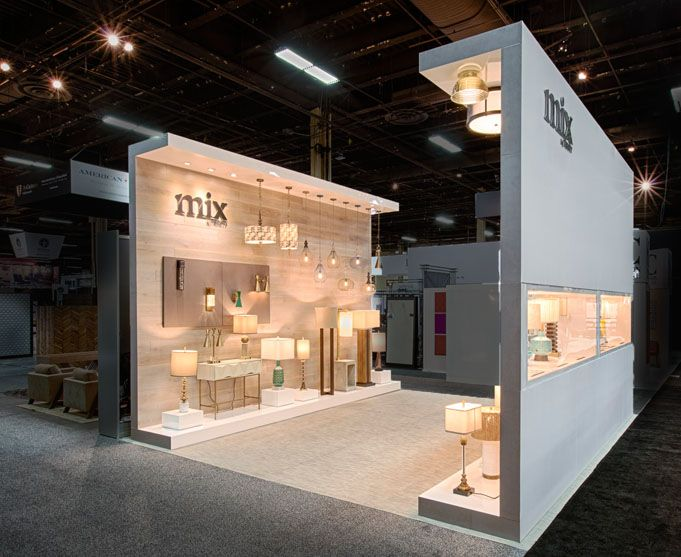 This 20x20 Reconfigurable Custom Trade Show Exhibit For Mix By Trinity Lighting Was A Hit At