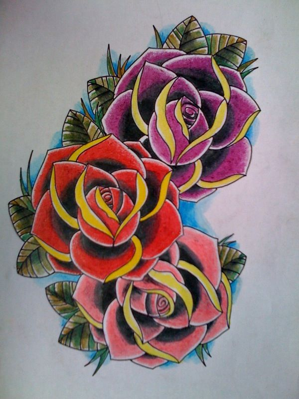 3 roses by ~Kirzten | All things girly | Tattoos, Tattoo ...