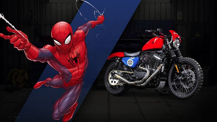 Harley-Davidson/Marvel 'Spider-Man' Custom Motorcycle