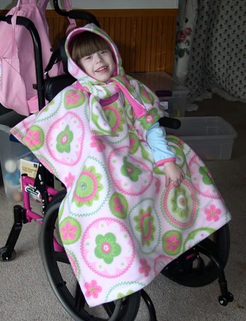 Wearing Our Size Small Wheelchair Poncho Our Customers