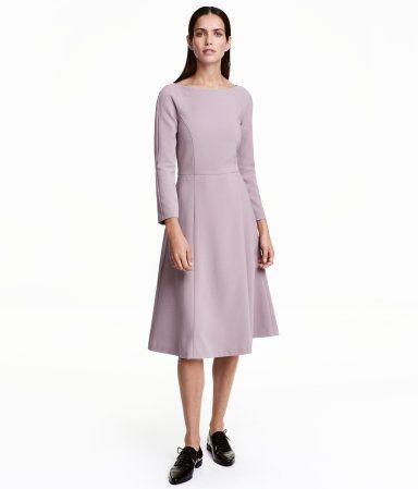 Kleid mit U-Boot-Ausschnitt   Helllila   Damen   H&M DE