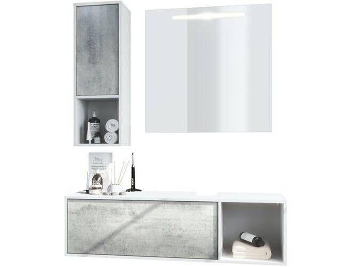 3 Tlg Badmobel Set La Costa Mit Led Spiegel In 2020 Bathroom