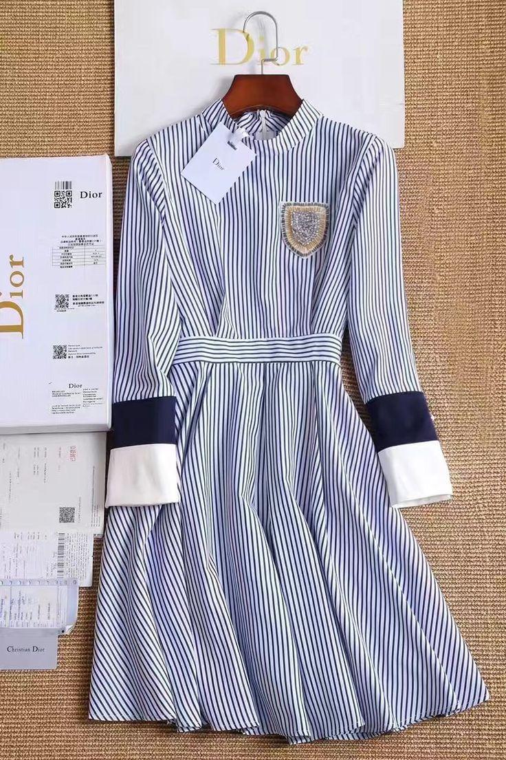 ⚓️⚓️⚓️Платье рубашка Диор в морском стиле  Ткань хлопок. Размеры S M L  Цена 5999 руб