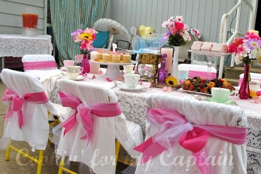 "Butterfly Tea Party Birthday Party... What little girl wouldn't love having such a ""grown-up"" party using real tea-cups and stuff (thrift store deals)? Lots of cute ideas shared."