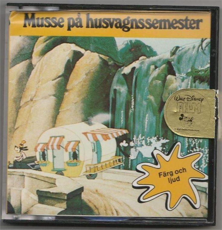 Musse Pigg på husvagnssemester super 8 färg och engelskt ljud Kalle Anka Långben