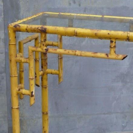 Vintage bamboo furniture detail.