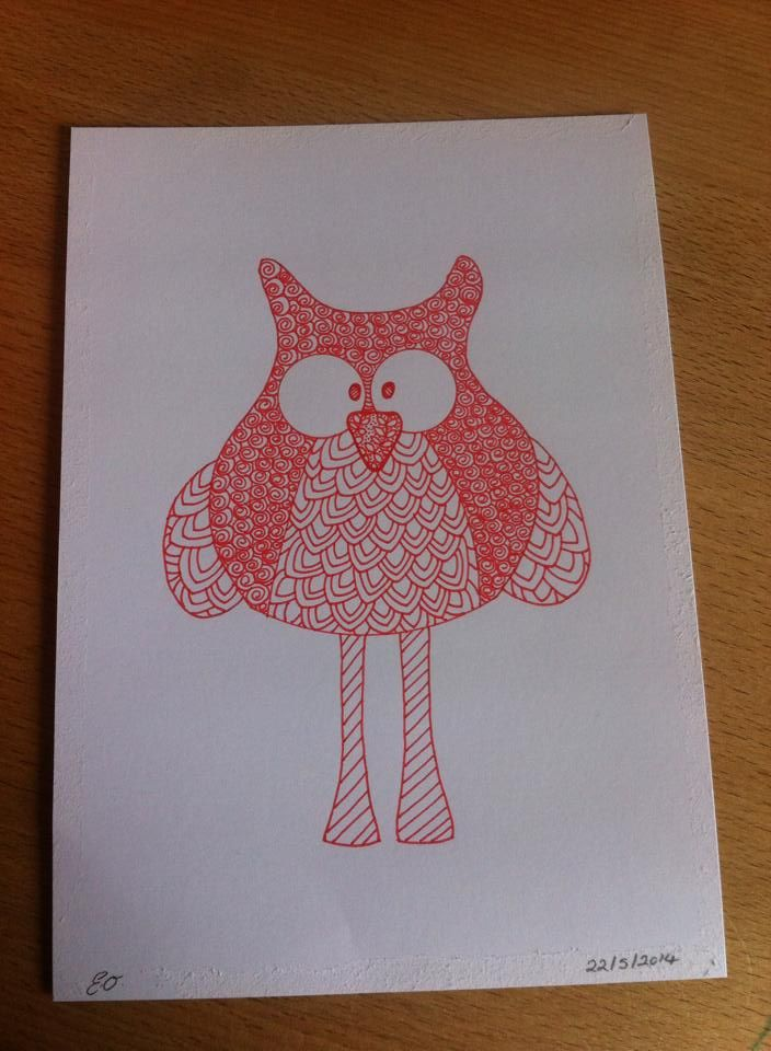 hand drawn owl by Emmas Art