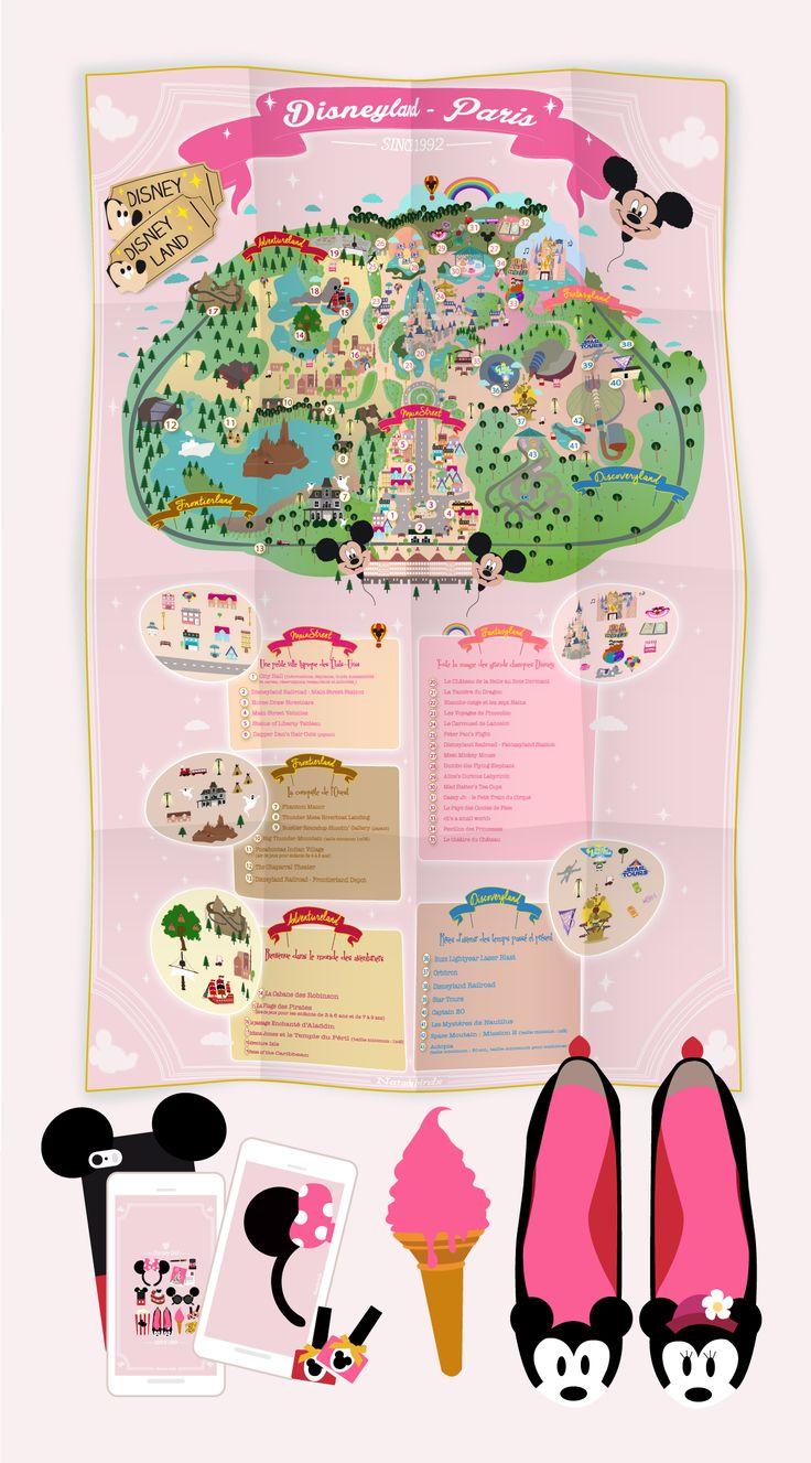 La carte de Disneyland Paris à télécharger et des fonds d'écran !