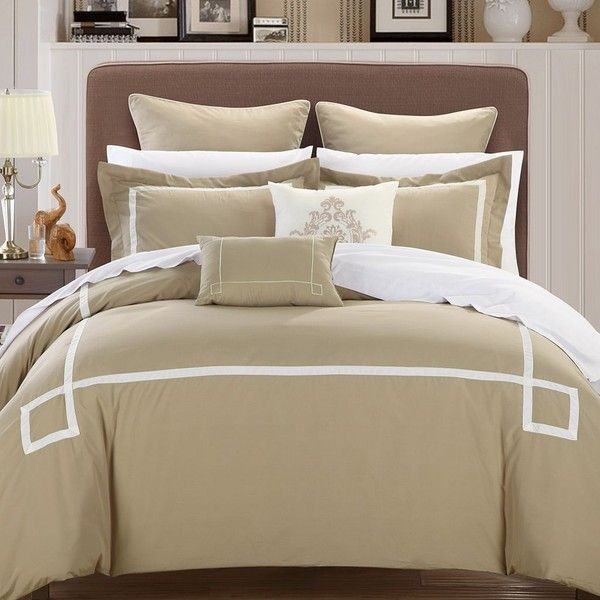 chic home 8piece ruth ruffled comforter set queen beige comforter setu0027s pinterest ruffled comforter and comforter