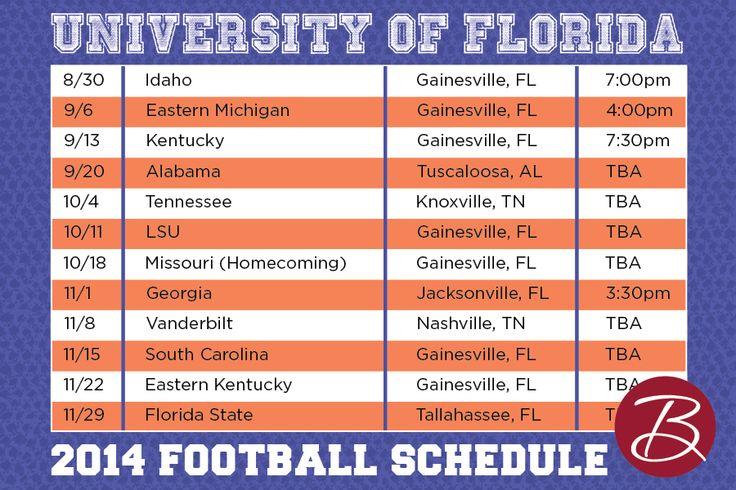 2014 #Florida #Gator #Football #Schedule #GainesvilleFL #UniversityofFlorida