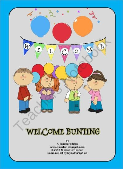 A Welcome Bunting Freebie from A_Teachers_Idea on TeachersNotebook.com (10 pages)  - This is a free welcome bunting for any classroom or hallway. This is a good back to school item made just for you. Simply download, cut and laminate individual pieces. You can mount on heavy card stock to increase durability.