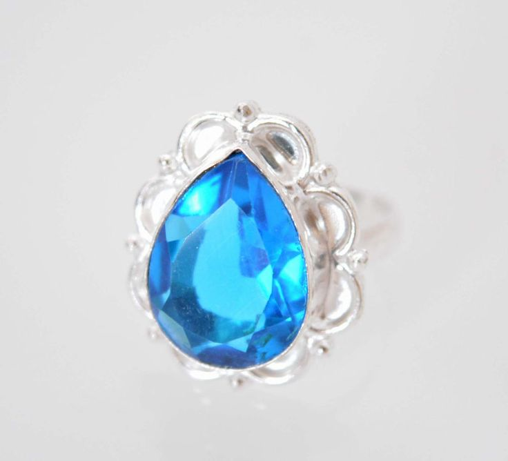 Awesome Genuine Quartz New Teens Fashion Jewelry Silver Plated Ring Size 7 F568  #HandMade #Cocktail