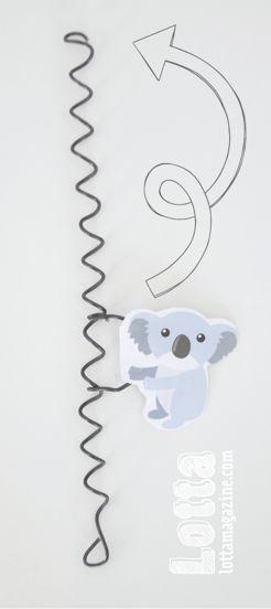 Australia Day crafts — twirly toy koala with free template