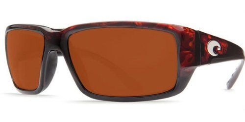 Costa Del Mar Sunglasses - Fantail- Glass / Frame: Tortoise Lens: Polarized Copper Wave 580 Glass