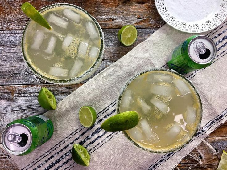 For a lighter spin on the classic margarita, look no further than a can of lime La Croix of your favorite lime-flavored seltzer water of...