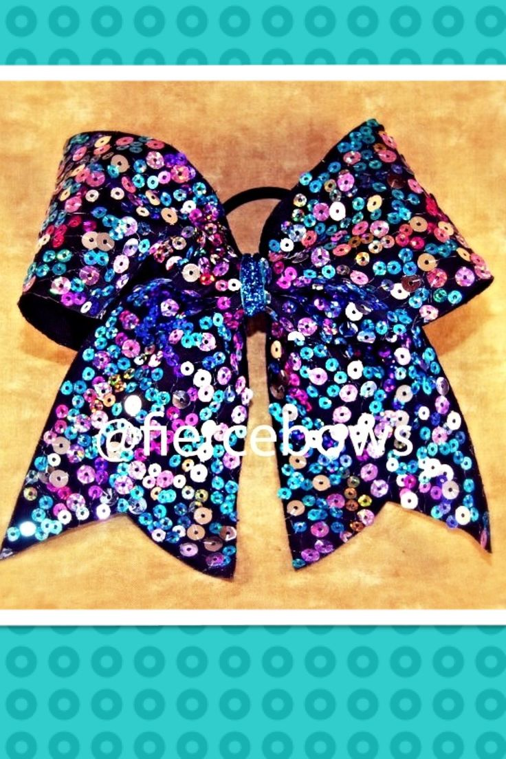 Sparkly cheer bow from fierce...super cute!