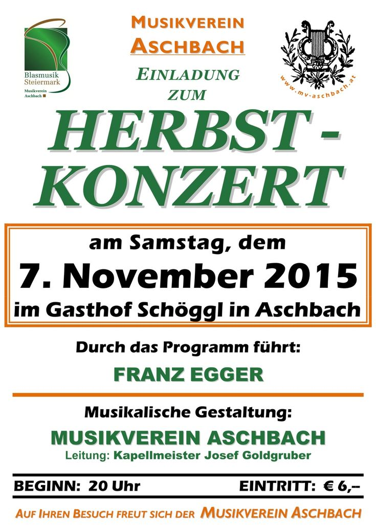 Herbstkonzert des MV Aschbach